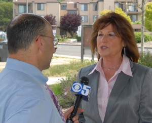 Supervisor Judy Arnold and KPIX Reporter Mike Sugerman